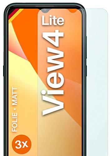 moex Schutzfolie matt kompatibel mit Wiko View4 Lite - Folie gegen Reflexionen, Anti Reflex Bildschirmschutz, Matte Bildschirmfolie - 3X Stück