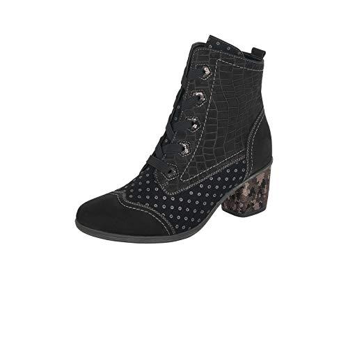 Remonte Damen Stiefeletten, Frauen Schnürstiefelette, Freizeit leger Stiefel Kurzstiefel Lady,Schwarz(schwarz),38 EU / 5 UK