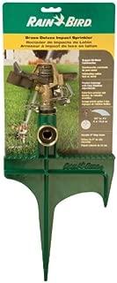 Rain Bird 25PJLSP Hose-End Brass Impact Sprinkler on Large Spike, Adjustable 20° - 360° Pattern, 20' - 41' Spray Distance