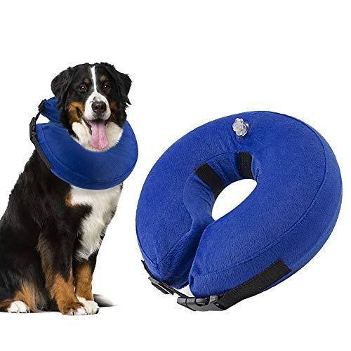 Nasjac Collar de recuperación Inflable para Perros, Collar Inflable para Perros Soft Pet Recovery con Hebilla Ajustable