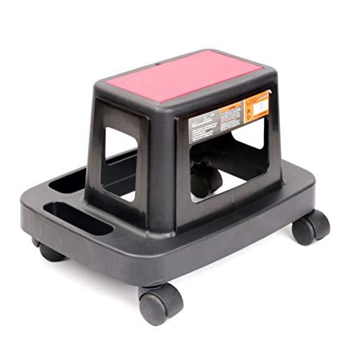 GFYWZ Asiento Mecánico Rodante con Compartimentos De Almacenamiento, Taburete De Taller Móvil Compuesto, Capacidad De Carga 150 Kg