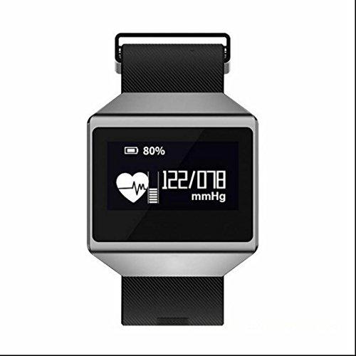 Bracelet Intelligent Tracker d'activité,Fil de Suture,Fitness Tracker,Podomètres,Cardiofréquencemètres,Alarme Vibrante, avec écran tactile OLED Smart Watch pour iOS Android Smartphones