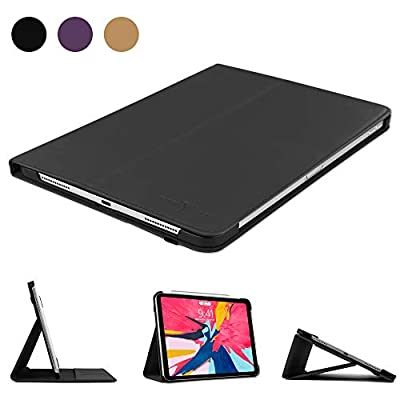 "Boriyuan Leather Case for iPad Pro 11"" 2018-Leather Smart Cover Protective Folio Flip Stand with Magnetic Attachment&Auto Sleep/Wake for iPad Pro 11 Inch"