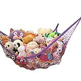 MiniOwls Storage Hammock Stuffed Toys Organizer - Fits 30-40 Plush Animals. Great Gift for Boys and Girls....