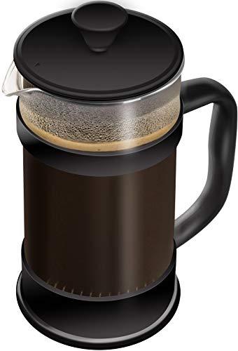 KICHLY - 8 tazas (1 litro / 1000 ml) Cafetera Francesa espresso y tetera con triple...