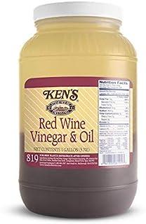Ken`s Foods 1 Gallon Red Wine Vinegar and Oil Dressing