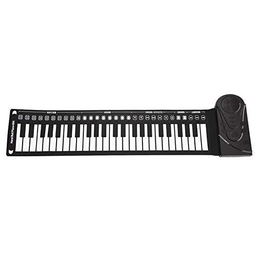 49 chiavi arrotolabili pianoforte portatile pieghevole tastiera elettronica supporto registrazione e riproduzione pianoforte elettronico flessibile per bambini adulti