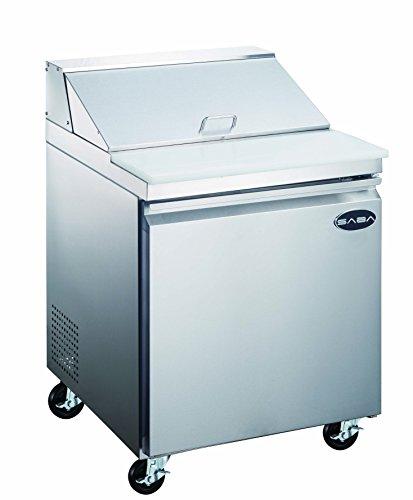 SABA 27' Commercial Sandwich Salad Prep Table Refrigerator Cooler