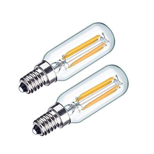 Bonlux 4W LED Cooker Hood Light Bulb SES Cool White 6000K 40W Incandescent Replacement T26 Tubular Filament Bulb E14 LED Appliance Lamp for Fridge Freezer/Microwave/Cooker Hood (2-Pack, Non-dimmable)