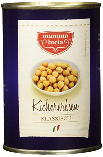 mamma lucia Kichererbsen klassisch, 12er Pack (12 x 425 ml)