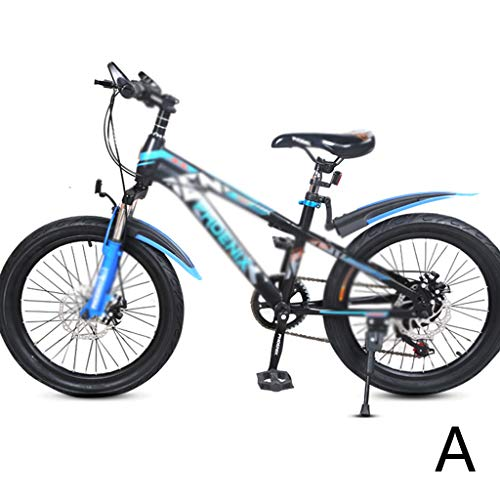 Bicycle Student Bicycle 7 Speed Mountain Bike Boy Bicycle Girl Bicycle 20 Inch, High Carbon Steel Frame, Mechanical Double Disc Brake (Color : C, Size : 20INCHES)