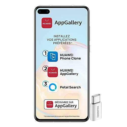 HUAWEI P40 Smartphone Desbloqueado 5G (6.1 Pulgadas - 8 Gb / 128 Gb - Doble Nano Sim) [Versión Francesa] Plata, Silver Frost