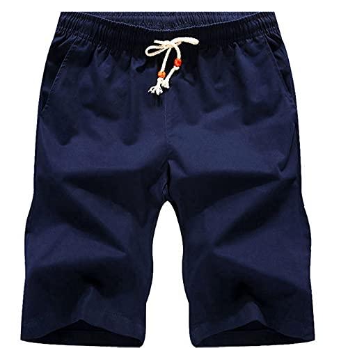 Leezepro Pantalones Cortos para Hombre Pantalones Cortos Casuales Secado Rapido Bañadores de natación para Hombre (M, Azul)