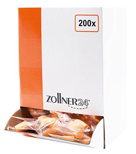 Zollner24 Ohrstöpsel aus PU-Schaum 400 Stück, paarweise verschweißt, Orange