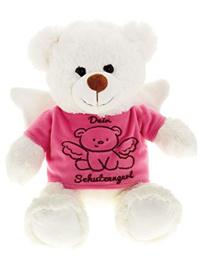 Spiel AG Teddy Teddybär Dein Schutzengel Glücksbringer 25 cm (Rosa)