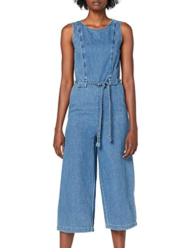 ONLY Damen Onlnew Marwin Life SL CRP DNM Jumpsuit Jeans, Medium Blue Denim, 38