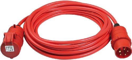 Brennenstuhl BREMAXX CEE Verlängerungskabel IP44 (10m Kabel, AT-N07V3V3-F 5G1,5, mit CEE Stecker und Kupplung, für außen, einsetzbar bis -35°C, Made in Germany) rot