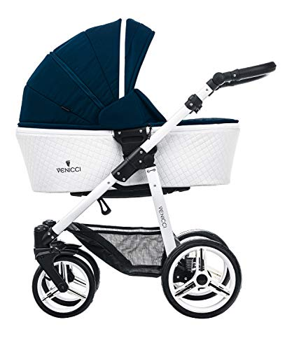 New Venicci Pure 2 in 1 Travel System - Pure Storm/White Frame