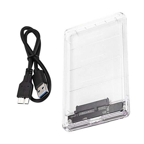 GGOOD Unidad de Disco Duro Disco Duro Externo Caja HDD SATA a USB 3.0 para el Ordenador portátil PC de Escritorio Transparente Micro-B, HDD