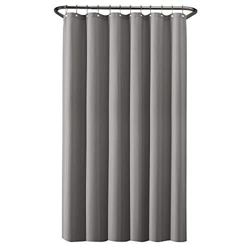 Zenna Home Duschvorhang aus wasserdichtem Stoff, 178 x 183 cm, Grau