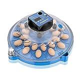 FHISD Incubatrici per Uova, incubatrice Tonda per pollame, incubatrice con Display Digitale a Controllo Automatico della Temperatura, per covare Pulcino, Anatra, Oca, picc