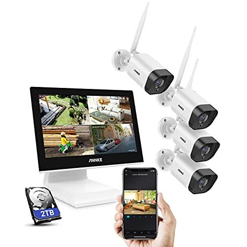 ANNKE Kit de Seguridad WiFi 1080P 8CH NVR con Monitor 12