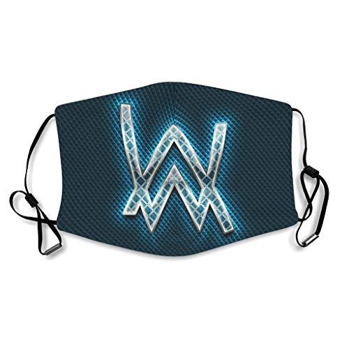 Dj Alan Walker - Escudo facial de fibra de algodón y poliéster para esquí, color azul Blanco blanco Talla única