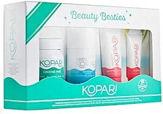 Kopari Beauty Besties - 4 Pack Includes 2.5 oz Coconut Melt.9 oz Aluminum Free Deodorant, 1oz Face Cream.35 oz Lip Glossy