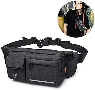 Sling Bag Crossbody Backpack, AOLVO Mens Waist Bag with Adjustable Shoulder Strap, Headphone Jack, Waterproof Chest Bag for Running Workout Traveling Casuall
