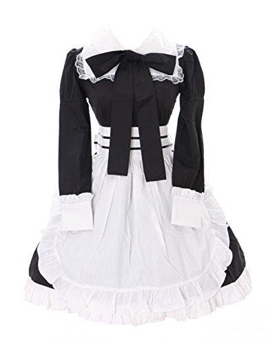 Kawaii-Story JL-637-1 zwarte Maid Zofe kamermeisjes Gothic Lolita jurk schort set kostuum Cosplay