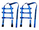 RuggedTow 2X USA Car Basket Straps Adjustable Tow Dolly DEMCO Wheel Net Set Flat Hook Standard Wheels Fits (14-20 Inches, Blue) Domestic