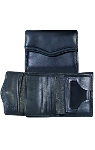 Scully Western Mens Wallet Soft Plonge Leather Credit Card Black 202-11