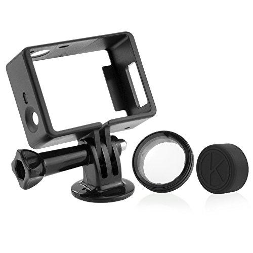 CamKix Rahmenhalterung kompatibel mit GoPro Hero 4 Black und Silver, 3 und 3+ - USB, HDMI und SD-Steckplätze voll zugänglich - Leichtes und kompaktes Gehäuse für Ihre Kamera