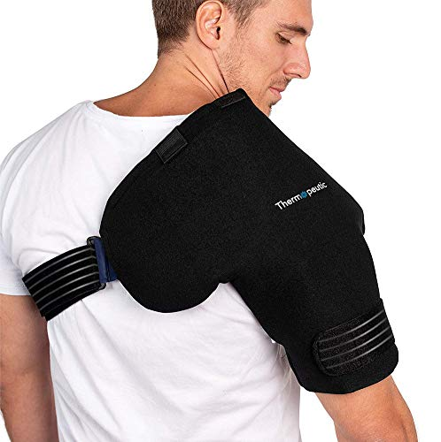 Thermopeutic Shoulder Compression Ice Cold Gel Wrap for Shoulder...