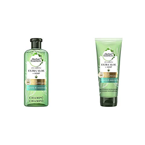 Herbal Essences Champú Bio: Renew sin Sulfatos con Aloe Intenso Y Hemp, en Colaboración con el Royal Botanic Gardens de KEW + Acondicionador Bio: Renew sin Sulfatos con Aloe Intenso Y Hemp
