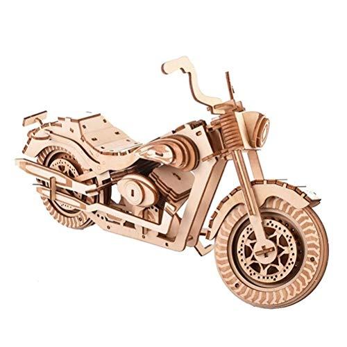 QXF-D 158 STÜCKE DIY Selbstmontage Motorrad Holz Dreidimensionale Puzzle 3D Modell Elternkind Interaktives Spielzeug for Kinder Teenager Und Erwachsene