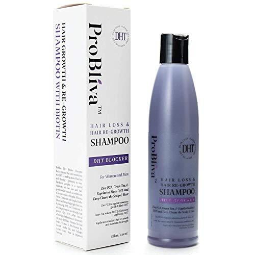 ProBliva Pérdida bloqueador de dht pelo y nuevo crecimiento del pelo champú - contiene bca zinc, extracto de té verde, kapilarine complejo de crecimiento del cabello sano, de 8 onzas