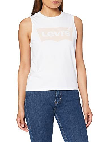 Levi's Graphic T-Shirt, Batwing Band Tank White +, XS Donna