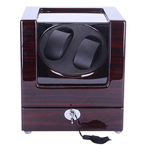 CCAN Reloj Enrollador de Reloj Silencio Automático Doble enrollador de Reloj Diseño Vertical A Prueba de Polvo Seguridad Protección Duradera Cajas de Reloj Presente