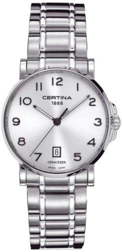 Certina Herren-Armbanduhr XL Analog Quarz Edelstahl C017.410.11.032.00
