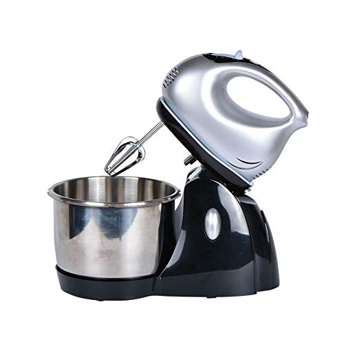 Meneflix Electric Stand Mixer Blender Professional Food Processor Whisk for Baking Ingredients Kitchen Aid Dough Mixers with 2l Stainless Steel Bowl Whisk Dough Hook 5 Speed 350W Tilt Head Food Mixer