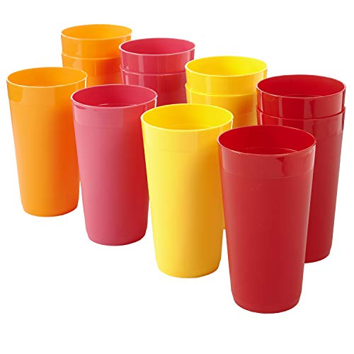Newport 20-ounce Unbreakable Plastic Tumblers | set of 12 in 4 Candy Colors