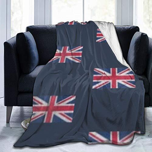 Uk Flag Union Jack Fleece Decke Ultra-Soft Micro für Couch oder Bett Warm Throw Blanket Ganzjahres-Sofadecke 60x50 in