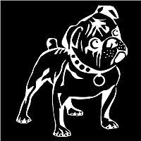2 ピース カーバンパーステッカー10.8CM * 12.7CM犬の子犬の動物ビニールカースティッカーデカール