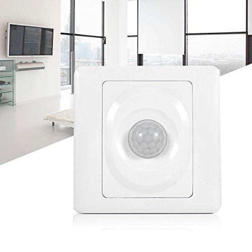 Emoshayoga Práctico Interruptor de Sensor de Movimiento PIR Suave y Estable Ajustable Práctico automático para lámpara LED