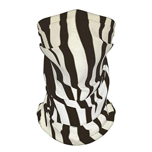 Hedes 2 unids cuello polaina máscara facial marrón oscuro y crema cebra pasamontañas unisex reutilizable a prueba de viento anti polvo boca bandanas al aire libre camping motocicleta correr