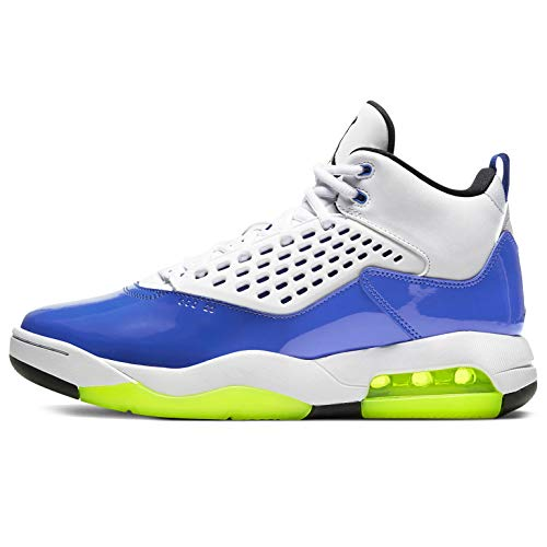 Nike Air Jordan Maxin 200 Herren Basketballschuhe Cd6107, Blau (Game Royal/Volt-schwarz-weiß), 45 EU