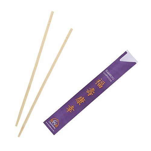 CiboWares 9 Inch Disposable Bamboo Chopsticks, Pack of 100