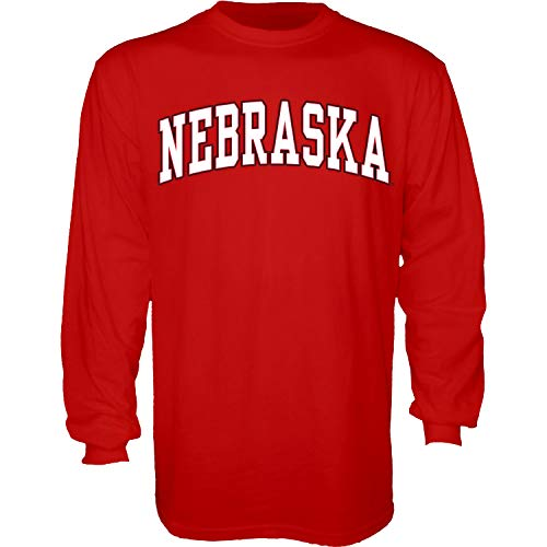 The Blue Brand Blue84 NCAA Nebraska Cornhuskers Herren-T-Shirt, langärmelig, Nebraska Cornhuskers Rot, Größe M