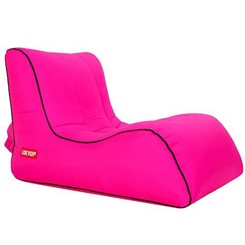 Anabei Perezoso sofá inflable al aire libre playa perezoso saco de dormir cama inflable portátil sofá de aire